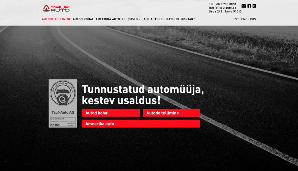 TaufAuto koduleht ja liidestused_kodulehe tegemine